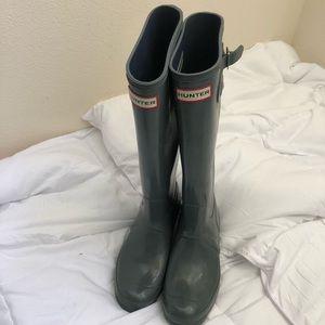 Matte tall Hunter boots